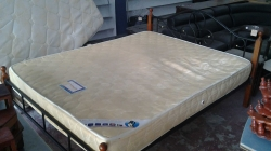 Metal and Wood Queen Size bed with classic matress