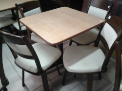 Square table with 4 spinning chairs
