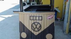 Wooden bar counter volkswagen design
