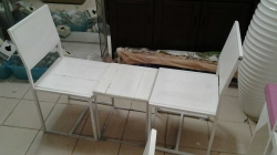 Small white table with 2 chairs