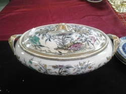 A large ironstone tureen