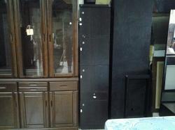 Wooden locker with keys in office