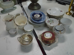 Large lot of ceramic cups, saucers, pots, jugs and bowls