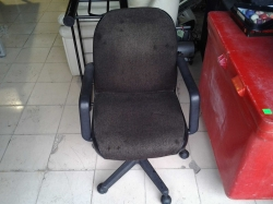 Small brown office chair