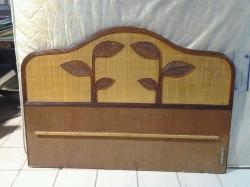 Woven rattan headboard