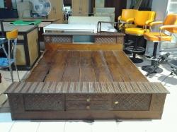 6 ft. Carved Teak wood bed