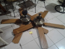 A pair of ceiling fans