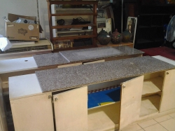Pair of bar counters