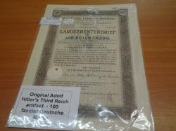 Original Adolf Hitler III Reich artifact 100 Marks