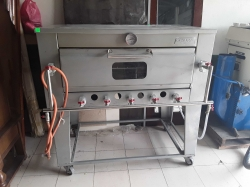 Large gas pizza oven 76x123x120 cm