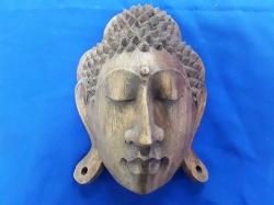 Wooden buddha face wall hanger