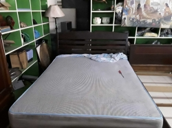 5Ft bed with mattress some damage