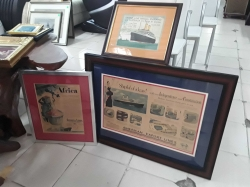 Advert sign of the 50s in frame