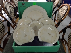 A boxed set japanese dinner plate a 5 side plates by hanae moni