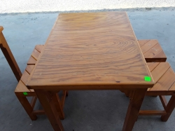 Wooden table with 4 chairs
