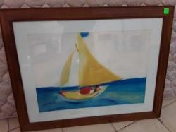Reprodution oil painting framed