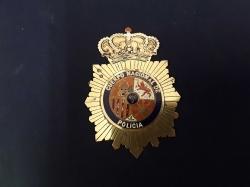 Enamel police badge of spain