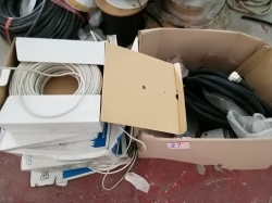Lot of Coax cable & junction boxes