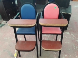 A pair of baby hight chairs
