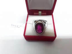 Ruby Africa 9.17 cts. in silver setting size 9.5