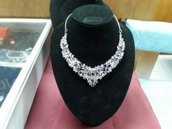 Silver pendant with fusion &diamond cut Mystic Topaz