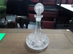 Cut glass ship decanter