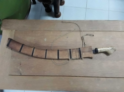 Old sword in wood case
