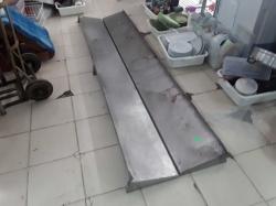 2x Stianless steel shelfs 30x240cm