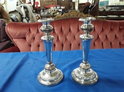 Antigue pair of smeffield plated candle sticks cir 1860