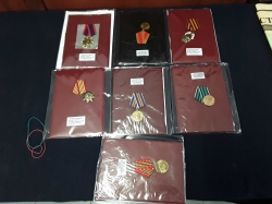 Modern Russia military 7 metals set