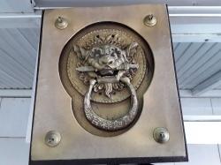 Antique bronze Chinese door knocker very old