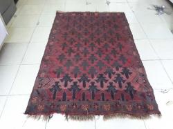Red handmade carpet