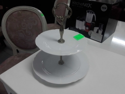 One cake stand silver plate