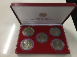 Collectable of royal coins from Treasury Department