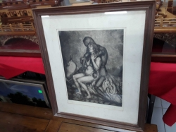 Erotic picture in frame