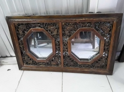 Hand carved Chinese mirror