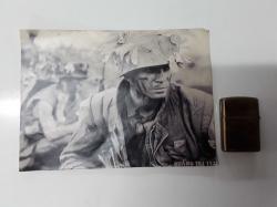 Vietnam war US zippo lighter with a picture