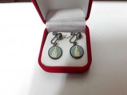 Sterling Silver 925 earrings with Jasperware inserts