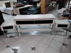 TV stand and 2x small tables
