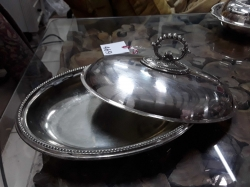 Silver plated dish with lid
