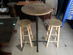 Hight table and pair of hight stools