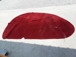 Red half moon carpet size 240x170