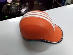 Orange sport motorbike helmet