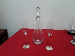 Swedish decanter and 2x glasses