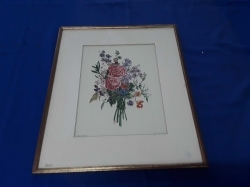 Pen drawing picture of roses