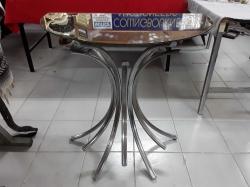 Art Noveau glass half moon table