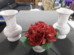 3pcs Pair of mable vases