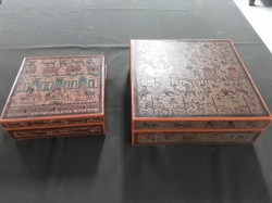 2x wooden box