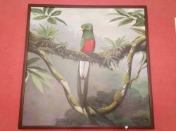 Oil painting of bird on canvas
