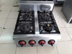 Stainless steel gas 4 bunners